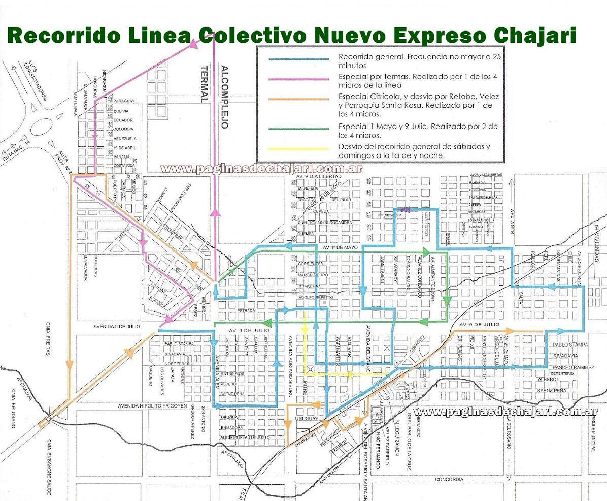Plano recorrido linea colectivo en chajari nuevo for Planos en linea